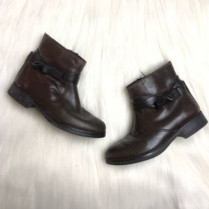 Clark's Toddler Girl Brown Leather Boots